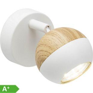 Scan LED Wandspot weiß/holz hell - Bild 1
