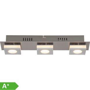 Transit LED Wand- und Deckenleuchte 3flg nickel/alu - Bild 1