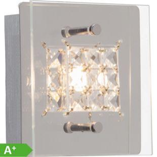 Martino LED Wandleuchte 1flg chrom/transparent - Bild 1
