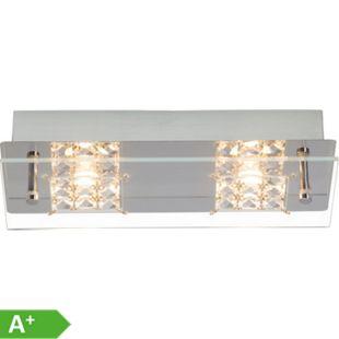 Martino LED Wand- und Deckenleuchte 2flg chrom/transparent - Bild 1