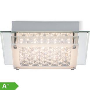 Larina LED Wand- und Deckenleuchte 25x25cm chrom/transparent - Bild 1