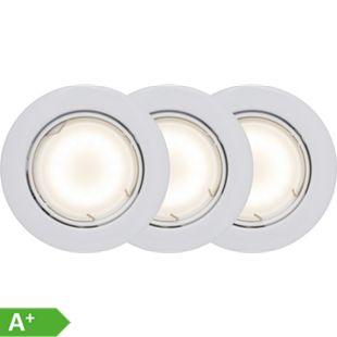 Honor LED Einbauleuchtenset 3x schwenkbar weiß/warmweiß easyDim - Bild 1