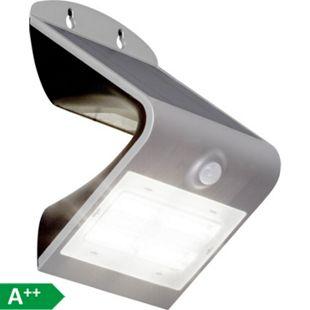 Zeb LED Außenwandleuchte 14cm Bewegungsmelder silber - Bild 1