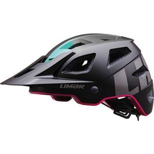 Fahrradhelm Delta mattschwarz/pink - Bild 1