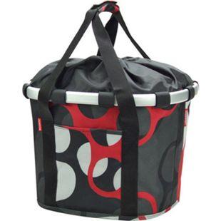 """Vorderradkorb """"Bike Basket"""" grau-rot-weiß - Bild 1"""