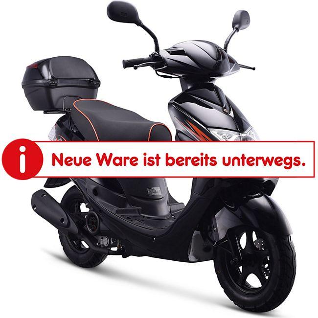Motorroller NEW JET 50 ccm Euro-4-Norm  45km/h Schwarz - Bild 1