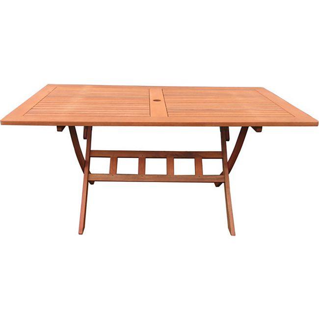 Grasekamp Gartentisch Klapptisch Rio Grande  160x90cm Eukalyptus Gartenmöbel  Holztisch - Bild 1