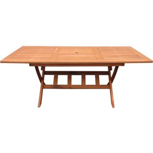 Grasekamp Gartentisch Santos 200x100cm  Holztisch Esstisch Klapptisch - Bild 1