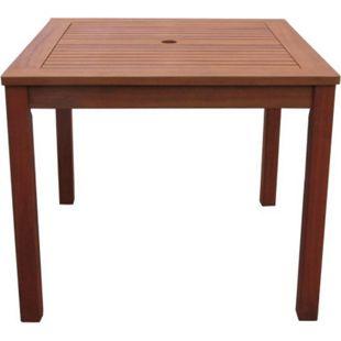 Grasekamp Gartentisch 90x90cm Natur Holztisch  Tisch Gartenmöbel Eukalyptus - Bild 1