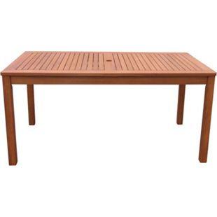 Grasekamp Gartentisch 160x90cm Natur Holztisch  Tisch Gartenmöbel Eukalyptus - Bild 1