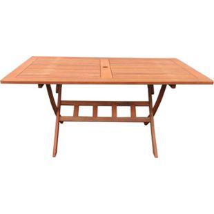 Grasekamp Gartentisch Santos 160x90cm Klapptisch  Balkontisch Tisch Esstisch - Bild 1