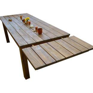 Grasekamp Tischverlängerung 50 x 90 cm zu  Gartentisch Korsika 160 x 90 cm Akazie  rustikal - Bild 1