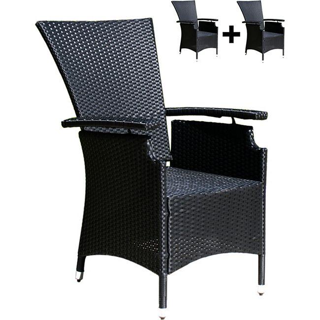 famous home 2 rattan gartensessel verstellbar schwarz polyrattan hochlehner rattansessel online. Black Bedroom Furniture Sets. Home Design Ideas