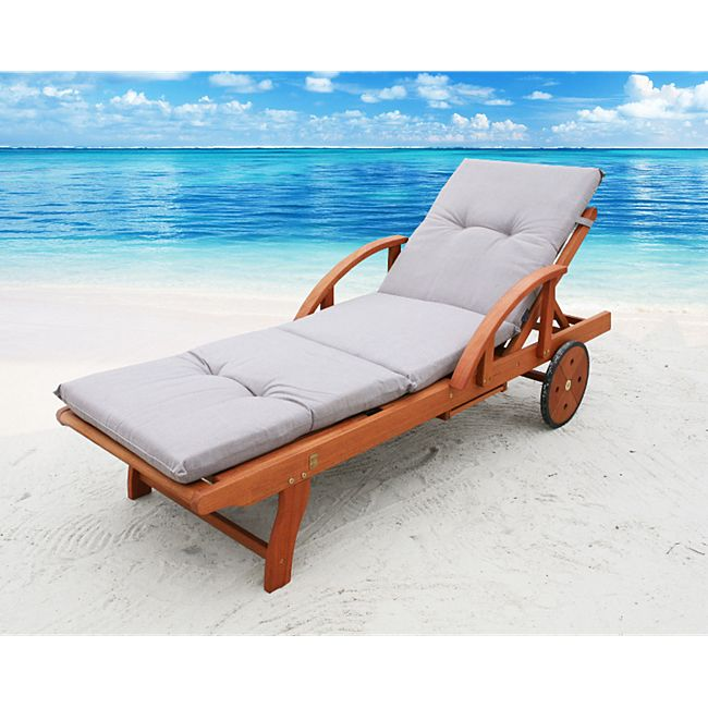 famous home auflage sand f r gartenliege liegestuhl. Black Bedroom Furniture Sets. Home Design Ideas