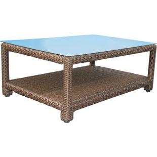 Famous Home Rattan Lounge Tisch 120x80cm Couchtisch  Beistelltisch Braun - Bild 1