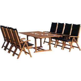 Grasekamp Garten Möbelgruppe Cuba 17tlg Premium  Anthrazit mit ausziehbaren Tisch auf 240  cm - Bild 1