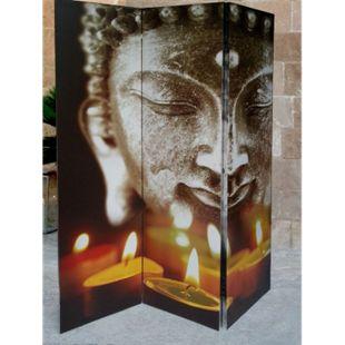 Grasekamp Paravent 3tlg Raumteiler Trennwand  Buddha II - Bild 1