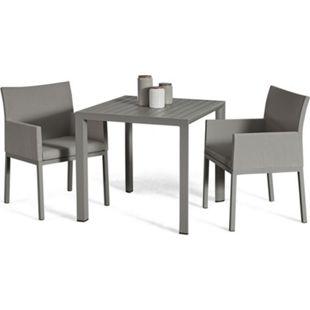 Grasekamp Terrassenset Sol 3 teilig - Tisch und 2x  Sessel aus Aluminium/Textilene - Bild 1