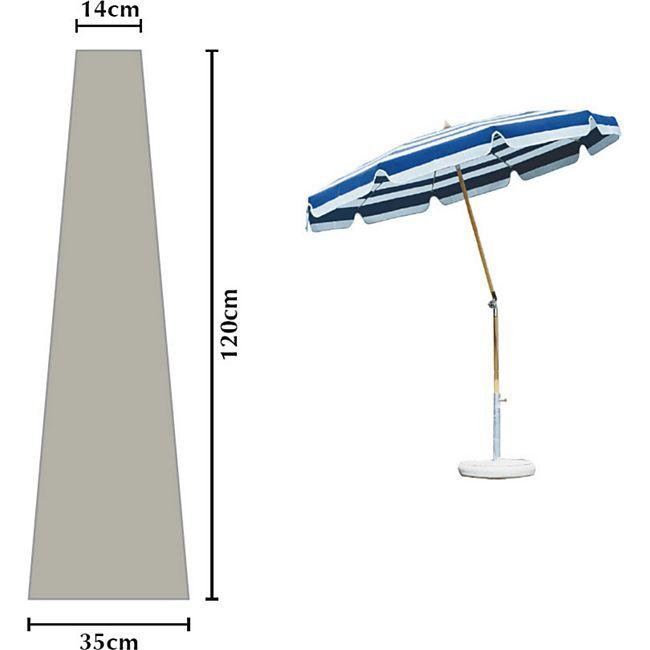 Grasekamp Schutzhülle Sonnenschirm Länge 120 cm  Plane Schutzhaube Weiß - Bild 1
