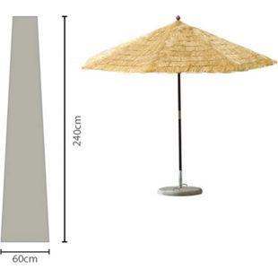 Grasekamp Sonnenschirm-Hülle 450 cm Plane Haube  Schutzhülle Weiß - Bild 1