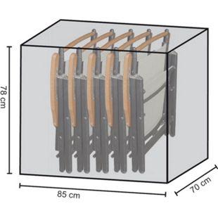 Grasekamp Stuhlhülle Schutzhaube Plane für 4-6  Klappstühle Polyester schwarz - Bild 1