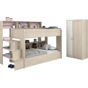 Parisot Etagenbett mit Bettschubkasten und  Schrank - Bibop 41 - Bild 1
