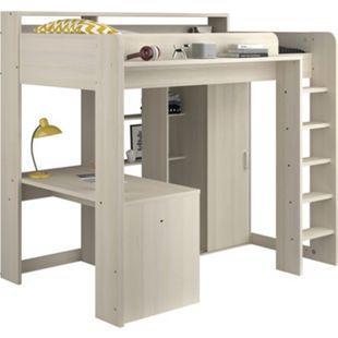 Parisot Hochbett mit integriertem Schreibtisch  und Schrank - Higher - Bild 1