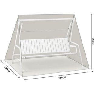 Grasekamp Schutzhülle Hellgrau für 3 Sitzer  Hollywoodschaukel aus Polyester 300D - Bild 1