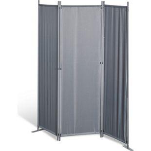 Grasekamp Stellwand 165x170 cm dreiteilig - grau -  Paravent Raumteiler Trennwand  Sichtschutz - Bild 1