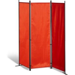 Grasekamp Stellwand 165x170 cm dreiteilig - terra  - Paravent Raumteiler Trennwand  Sichtschutz - Bild 1