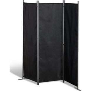 Grasekamp Stellwand 165x170 cm dreiteilig -  schwarz - Paravent Raumteiler Trennwand  Sichtschutz - Bild 1