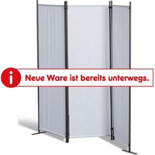 Grasekamp Stellwand 165x170 cm dreiteilig - weiß -  Paravent Raumteiler Trennwand  Sichtschutz - Bild 1