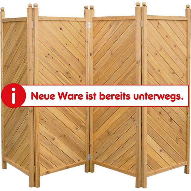 Grasekamp Paravent 4tlg Raumteiler Trennwand  Sichtschutz Kiefer München - Bild 1
