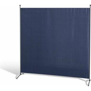 Grasekamp Stellwand 180 x 180 cm - Blau - Paravent  Raumteiler Trennwand Sichtschutz - Bild 1