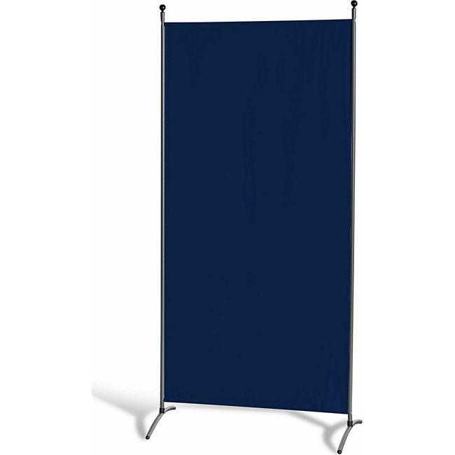 Grasekamp Stellwand 85 x 180 cm - Blau - Paravent  Raumteiler Trennwand Sichtschutz - Bild 1