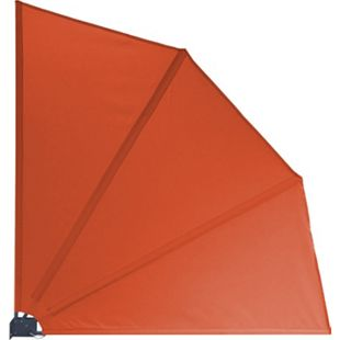 Grasekamp Balkonfächer 120 x 120 cm Orange mit  Wandhalterung Trennwand Sichtschutz - Bild 1