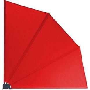 Grasekamp Balkonfächer 120 x 120 cm Rot mit  Wandhalterung Schutzhülle Trennwand  Sichtschutz - Bild 1