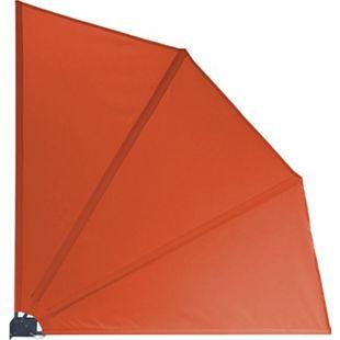 Grasekamp Sichtschutz Fächer Premium 140x140cm  Orange Balkon Trennwand - Bild 1