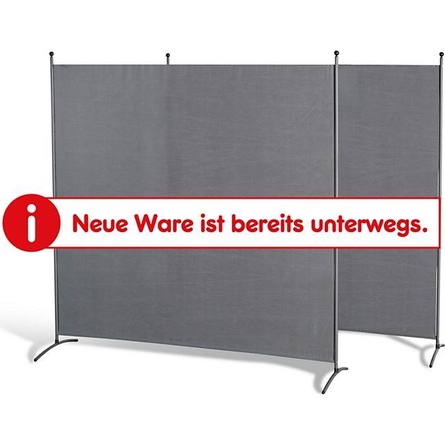 Grasekamp Doppelpack Stellwand 180x180 cm - grau -  Paravent Raumteiler Trennwand  Sichtschutz - Bild 1