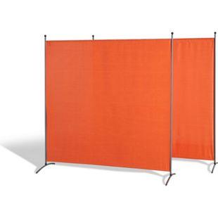 Grasekamp Doppelpack Stellwand 178x178cm - terra -  Paravent Raumteiler Trennwand  Sichtschutz - Bild 1