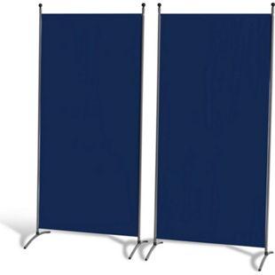 Grasekamp 2 Stück Stellwand 85x180cm Blau  Paravent Raumteiler Trennwand  Sichtschutz - Bild 1