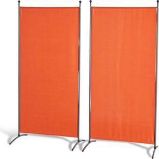 Grasekamp Doppelpack Stellwand 85x180 cm - terra -  Paravent Raumteiler Trennwand  Sichtschutz - Bild 1