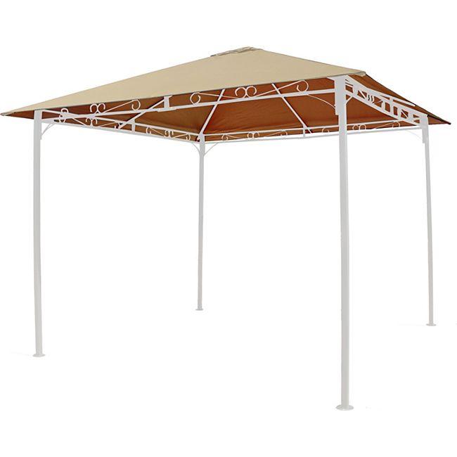 Grasekamp Ersatzdach 3x3m Sand universal zu  Antik Pavillon Gartenpavillon Partyzelt  Plane Bezug - Bild 1