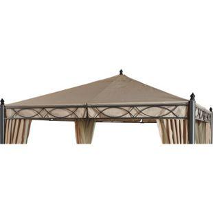 Grasekamp Ersatzdach zu Garten-Pavillon ROM 3x3m  Beige Party-Zelt Terrassen-Dach - Bild 1