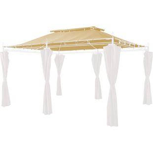 Grasekamp Ersatzdach zu Garten-Pavillon Inca 3x4  Beige Party-Zelt Terrassen-Dach - Bild 1