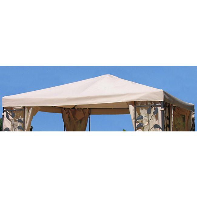Grasekamp Universal Ersatzdach zu Pavillon 3x3m  Sand Blätter Stil - Bild 1
