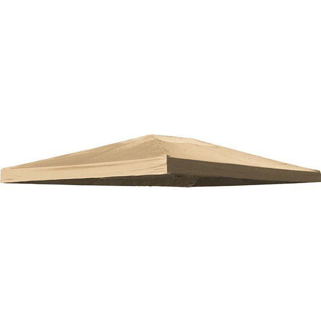 Grasekamp Ersatzdach zu Blätter-Pavillon 3x4m Sand  Plane Ersatz-Bezug - Bild 1