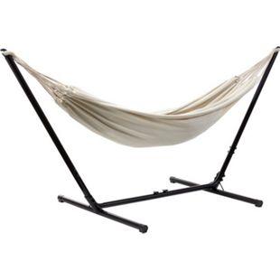 Grasekamp Hängemattenset Relax bis auf 330 cm  verstellbar mit XL Hängematte Beige 210  x 140 cm - Bild 1