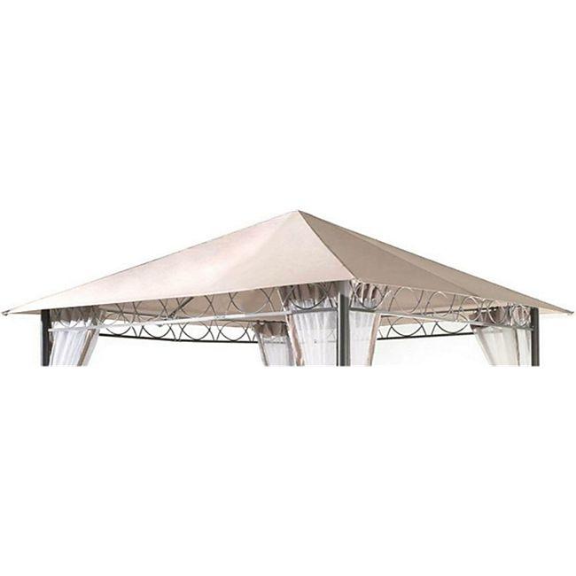 Grasekamp Ersatzdach 3x3m Stil Garten-Pavillon  Sand Ersatzplane Bezug - Bild 1