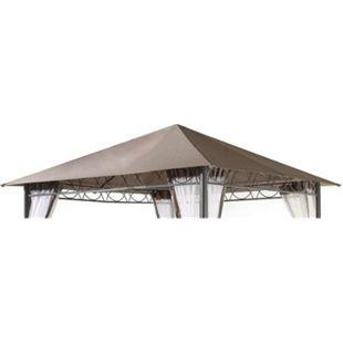 Grasekamp Ersatzdach 3x3m Stil Pavillon Taupe  Plane Bezug Gartenpavillon - Bild 1